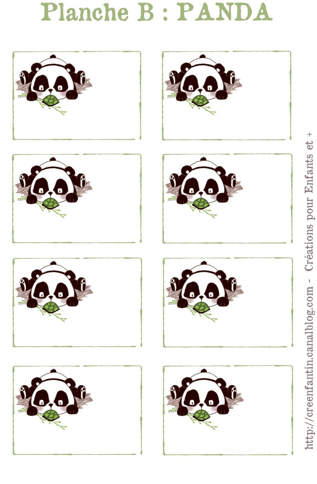 2 mains de lutin des etiquettes et des macarons pour les cahiers - Image de panda a imprimer ...