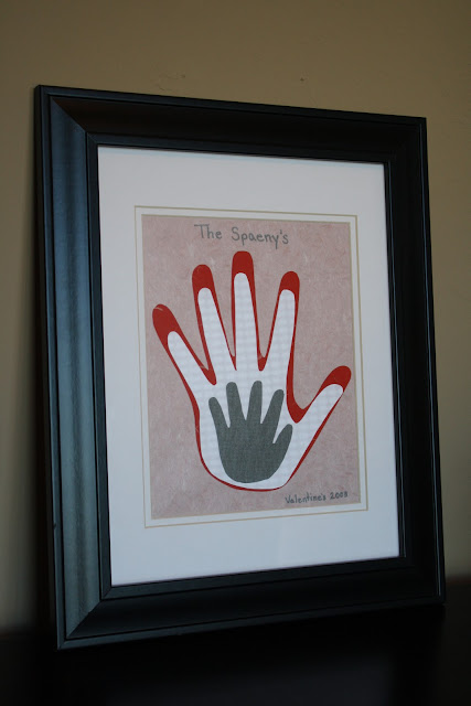 Popular Framed Hand Prints Tres French Hens