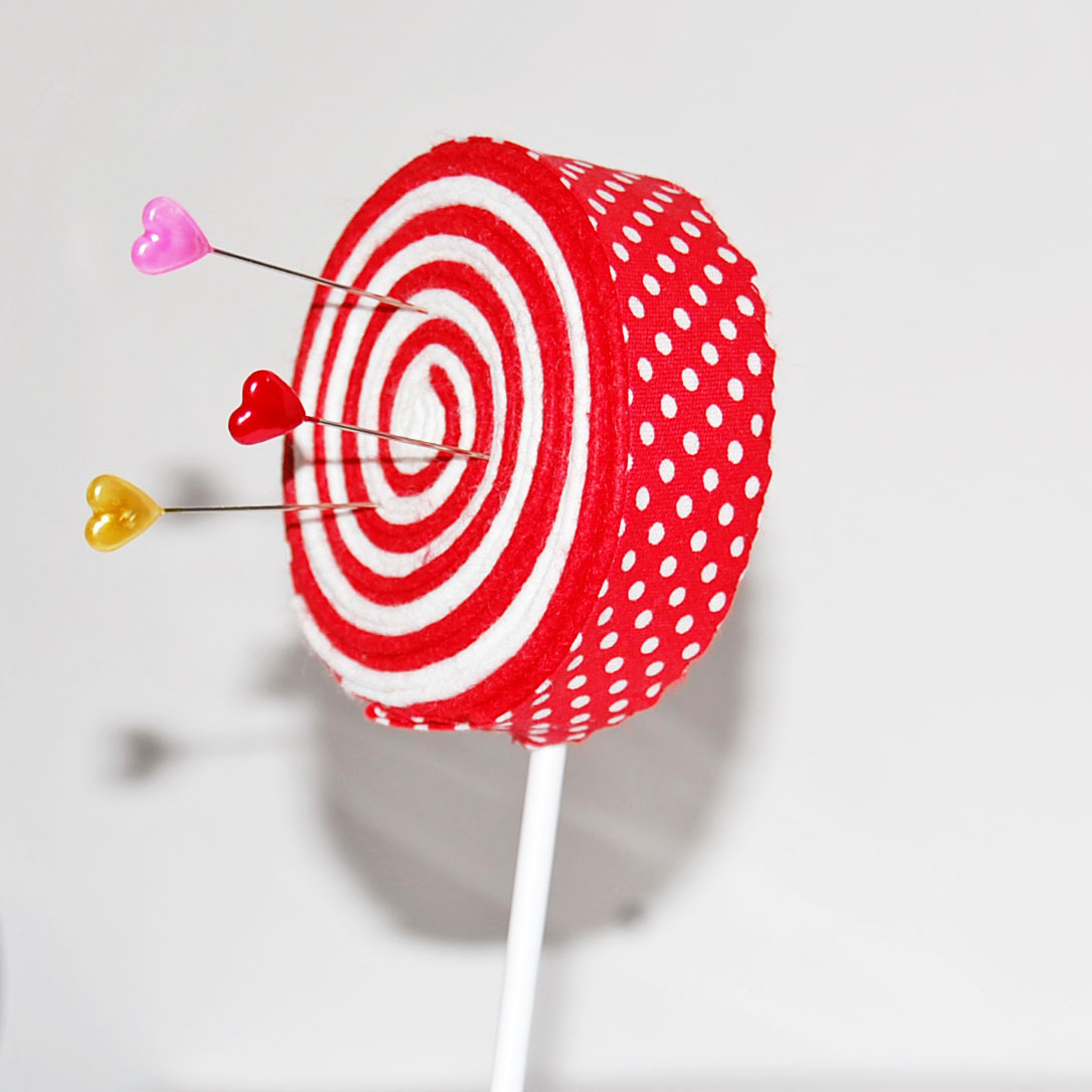 Candy Lollipop And Jelly Machinery Mail: BLONDE DESIGN: Lollipop Candy Cane Pincushions