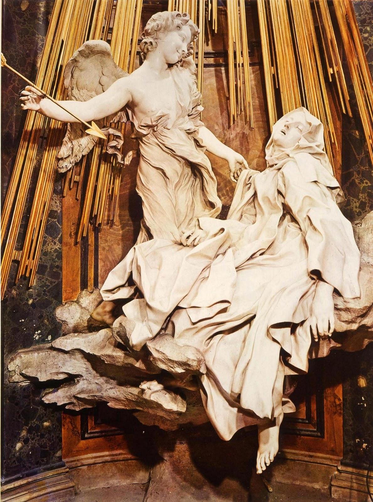 Dear God  If you let The dinasor not exstinctBernini St Teresa Painting