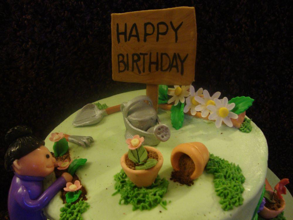 Cake Lane Gardeners Birthday Cake