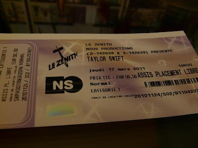 concert de Taylor Swift au Zenith de Paris