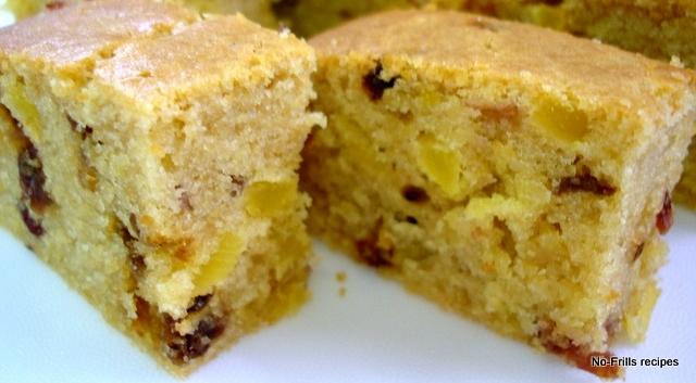 Sugarless Fruit Cake Recipe