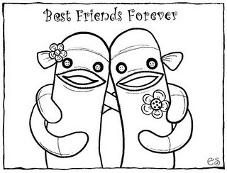 best friends forever coloring pages - photo#7