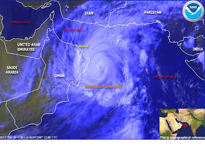 Cyclone in Arabian Sea