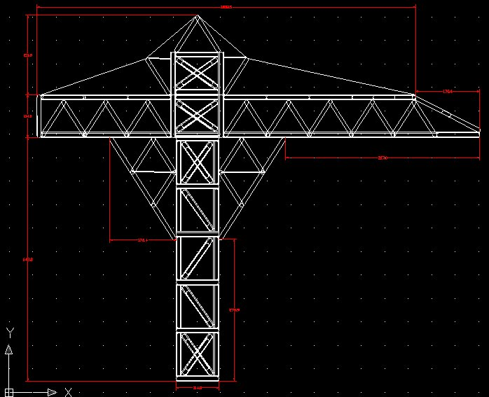 Envisioneer House Design Tower Crane Orthographic Drawings