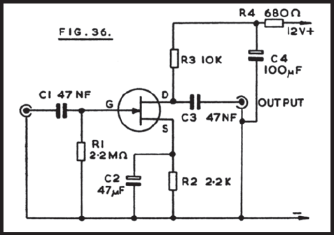 Crystal Microphone Preamplifier