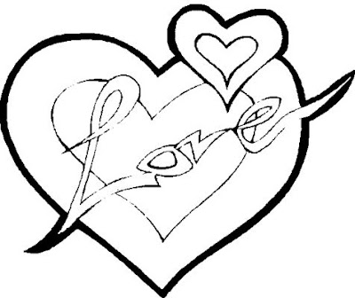 love hearts coloring pages - photo#43