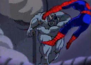 black spiderman vs rhino - photo #15