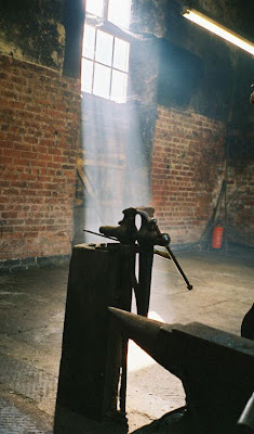 forge at foxhunting stables, Badminton House in England