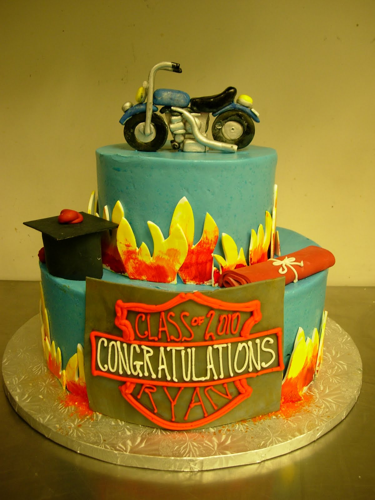 Harley davidson template for Motorbike template for cake