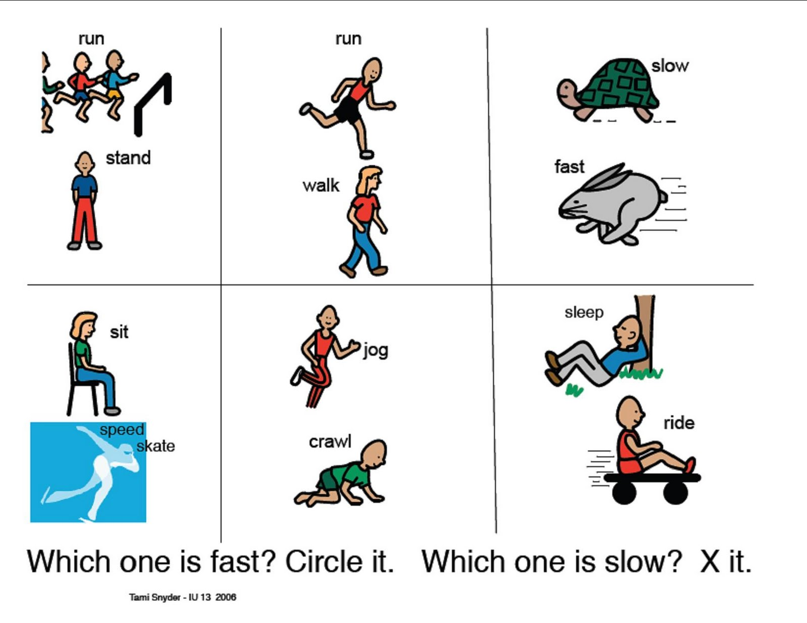 Speech Therapy With Miss Nicole Fast Vs Slow