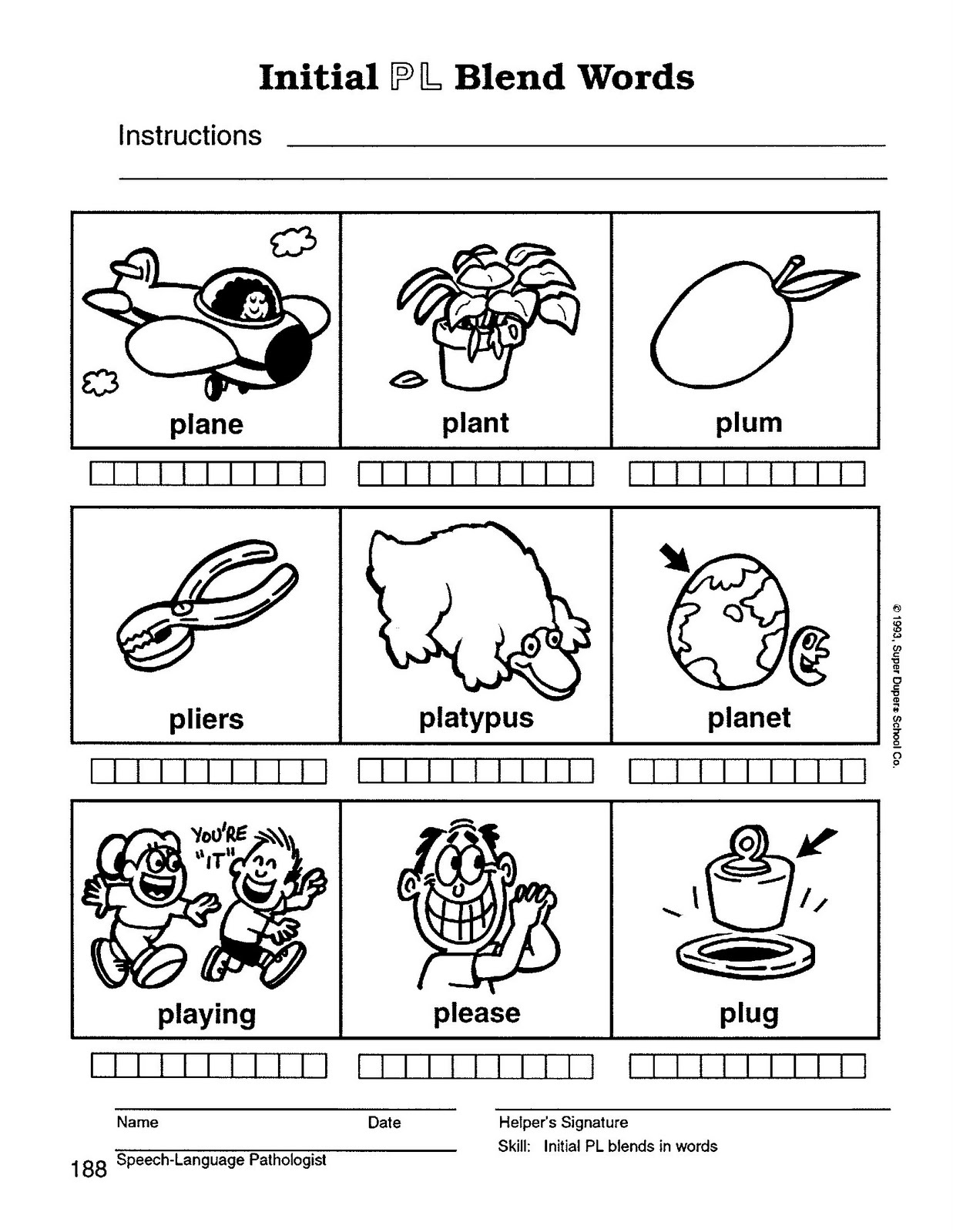 Br Words Worksheet
