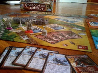 Shadows Over Camelot board game in play