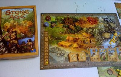 Stone Age board game in play