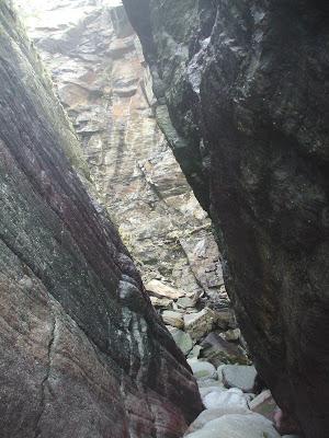 Crumbling Cliff: Mother Meldrums Gut  Exmoor