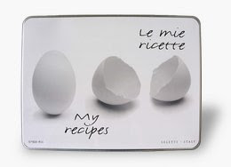 box that says my recipes and has picture of an egg, and then a broken eggshell