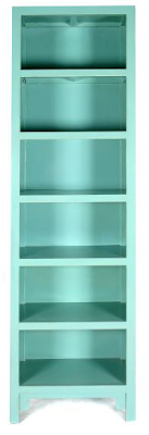 sky blue bookcase