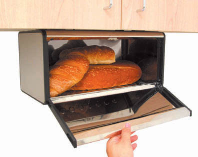 under cabinet bread box