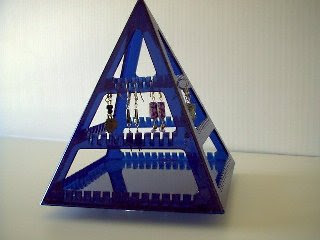 pyramid-shaped earring holder