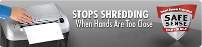 Safesense shredder - stops shredding when hands are too close