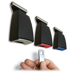 key holder shaped like seatbelt