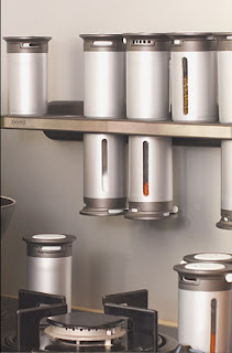 magnetic spice rack - tins can hang upside down