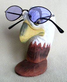 bald eagle eyeglass holder