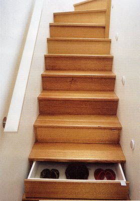 drawers built into stairs