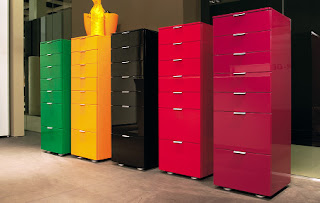 Chests by Kettnaker in red, black, green and yellow at House of European Design