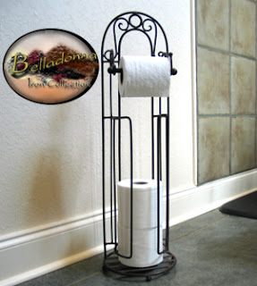Belladonna iron toilet tissue stand