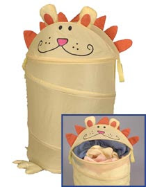 child's hamper with lion design