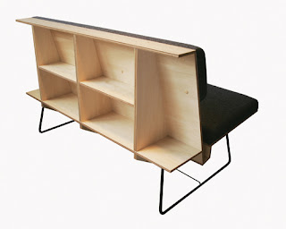 magazine rack bench