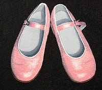 painting of pink shoes