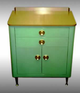 refurbished Hamilton medical cabinet in green