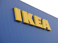 IKEA, yellow letters on blue store