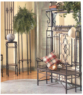 wrought iron hall tree