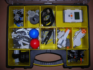 tool box with LEGO Mindstorm parts