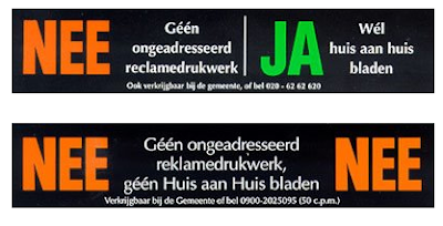 Dutch junk mail stickers