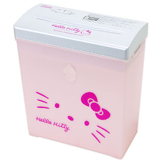 Hello Kitty shredder from Sanrio; pink