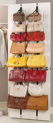 over-door purse rack