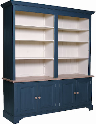 blue bookcase