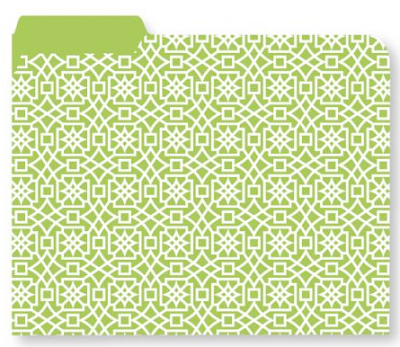 file folder, green and white pattern
