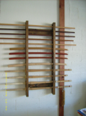 marital arts weapon / sword rack