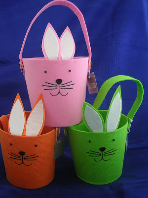 felt bunny Easter baskets