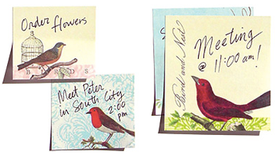 bird sticky notes