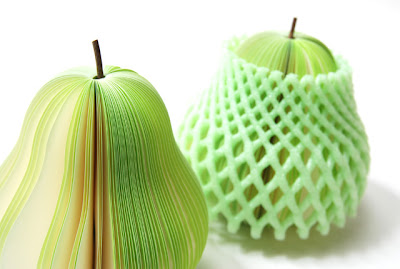fruit-shaped sticky notes