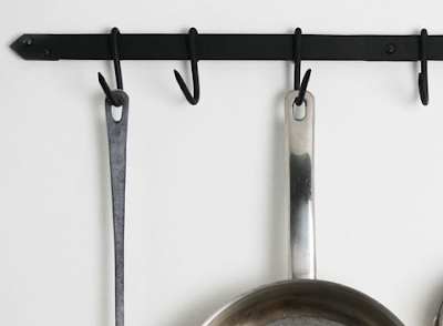 wrought iron pot rack