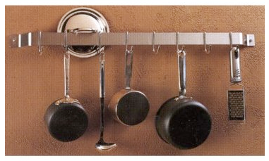 wall-mounted bar pot rack