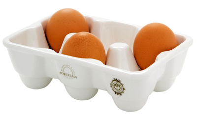 porcelain egg tray